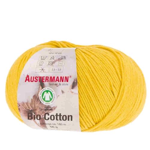Bio Cotton Baumwollgarn von Austermann 50g-Knäuel Fb. 23 mais