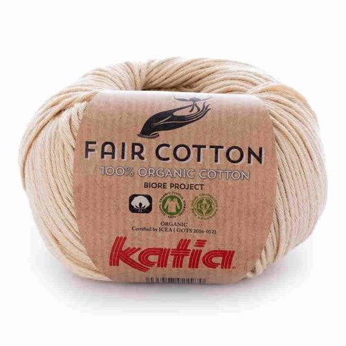 Fair Cotton von Katia 50g-Knäuel Fb. 10 hellbeige