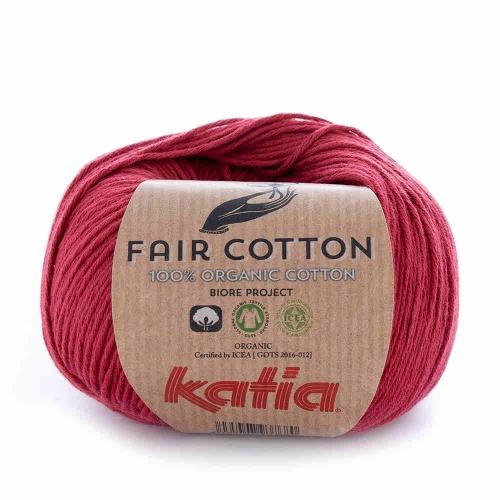 Fair Cotton von Katia 50g-Knäuel Fb. 27 weinrot