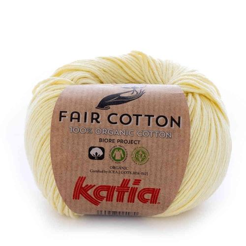 Fair Cotton von Katia 50g-Knäuel Fb. 7 hellgelb