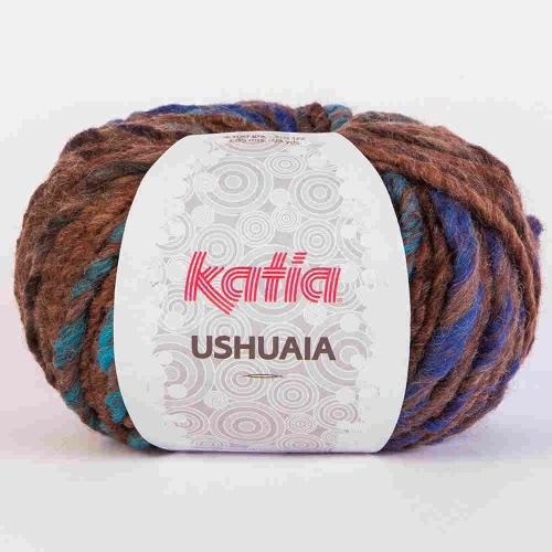 Katia Ushuaia Fb.607 braun/blau 100g-Knäuel