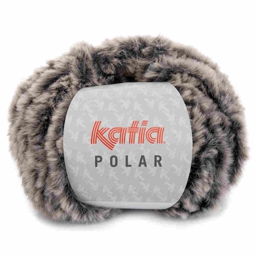Polar Plüschgarn von Katia 100g-Knäuel Farbe 85 grau