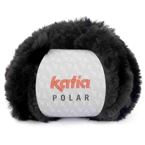 Polar Plüschgarn von Katia 100g-Knäuel Farbe 87 schwarz