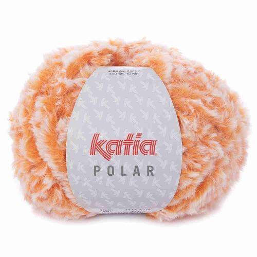 Polar Plüschgarn von Katia 100g-Knäuel Farbe 89 orange
