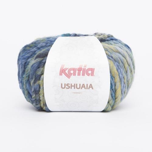 Katia Ushuaia Fb.623 blau/türkis/gelb 100g-Knäuel